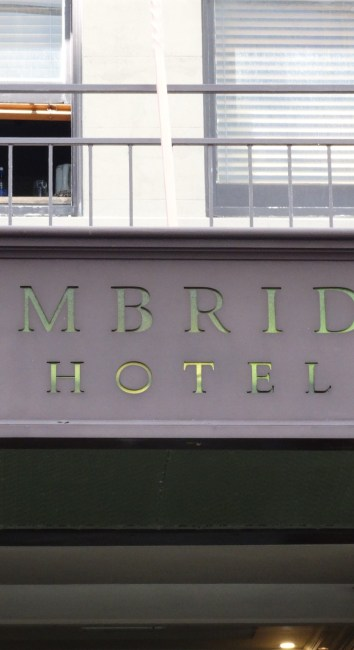Cambridge Hotel – Wellington
