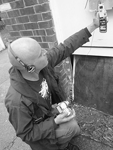 Kris using a Digital Recorder