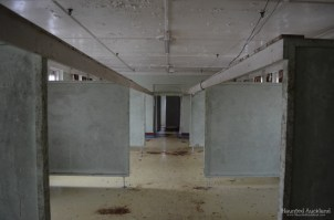Ward with partitions, upstairs in Admin Building