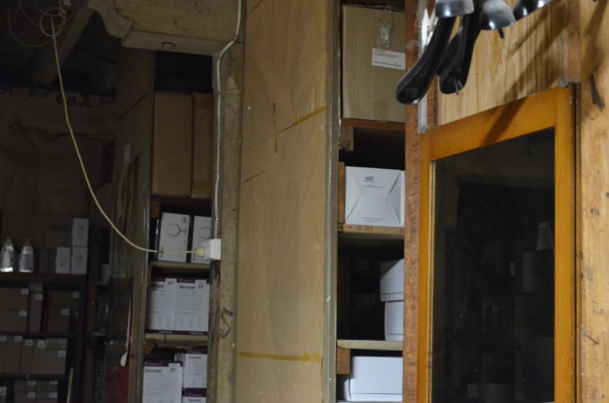 Manchester storage room. In this room a figure has been seen by staff.