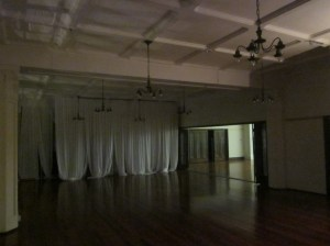 Curtains in the Ballroom