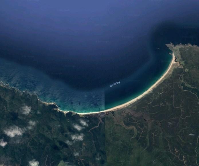 Map of Spirits Bay