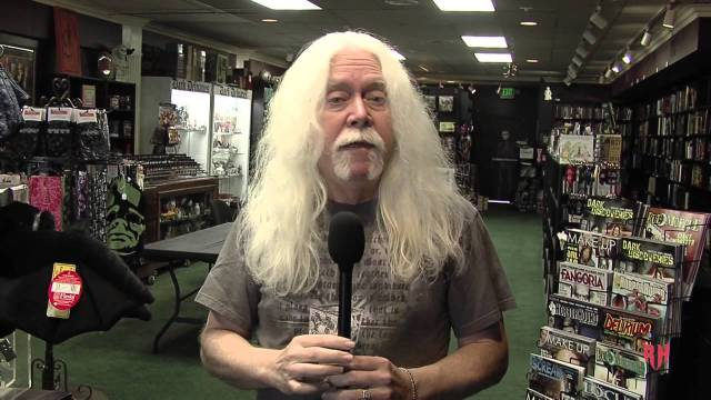 A still from The Dark Delicacies Show with Del Howison on Youtube