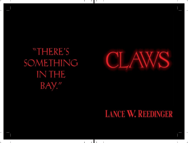 Claws book cover, black with red lettering.