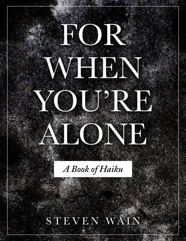For When You're Alone, A Book of Haiku cover.