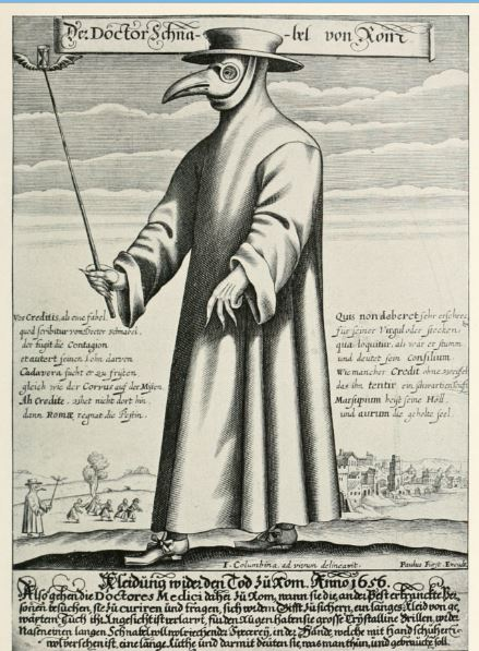 The Devil in a Diving Suit -Scared to Death in Toledo   Plague Doctor in protective suit