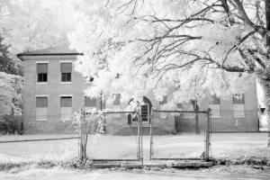 Abandoned Christian School, Cambridge Maryland Infrared Photography