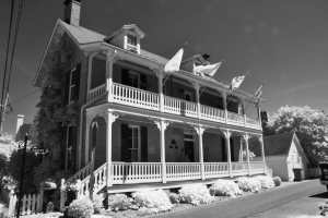 Haunted Dr. Dodson House St. Michaels, Maryland Infrared Photography