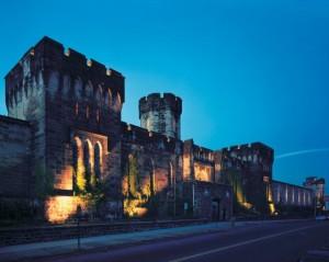 Nighttime Facade of Eastern State, Photographer: Tom Bernard