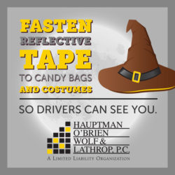 halloween safety tips reflective tape so drivers see you