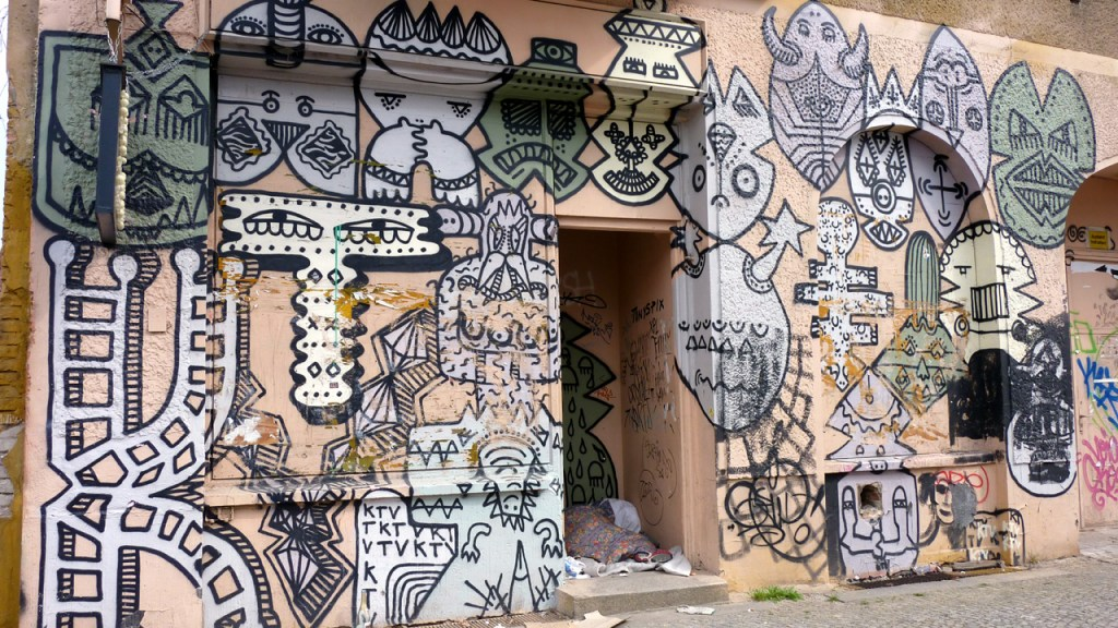 Berlin Mitte - Streetart mit Sozialkritik