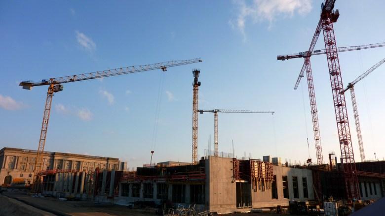 Die Baustelle des Stadtschloss Berlin - das neue Humboldt Forum nimmt Gestalt an.