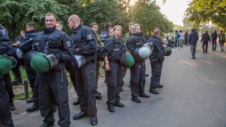 Polizeieinsatz gegen Cannabis Handel im Görlitzer Park