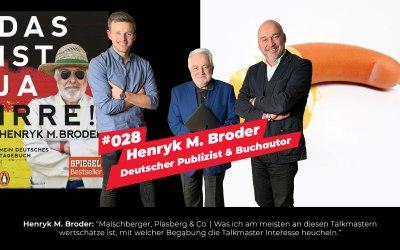#028 – Henryk M. Broder im Interview | Deutscher Publizist & Buchautor