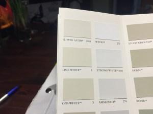 """Lime White"" soll im OG an die Wand."