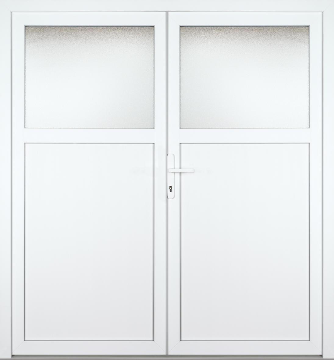 Pvc Alu Nebeneingangstur Tonja 1 3 2 Flugelig Symmetrisch
