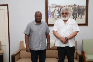HE Jerry John Rawlings, this morning in his office, to discuss a number of NDC-related issues 1