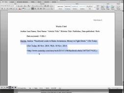 How to cite websites in text
