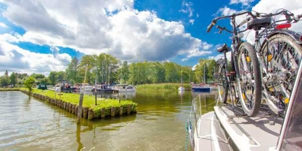 Hausboot-Rad-Masuren-Polen