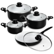 TecTake Keramik Kochtopf Set