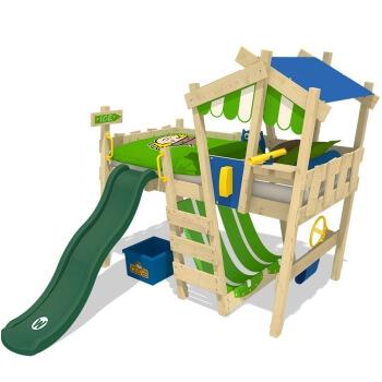 Wicky CrAzY Hutty - Kinderhochbett mit Rutsche