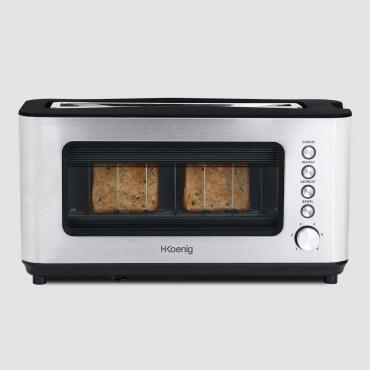 H.Koenig VIEW7 - Toaster mit Glasscheibe