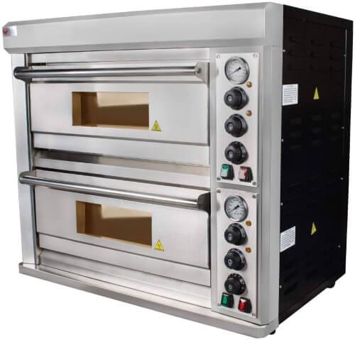 Beeketal BPO040-2 XL Doppelkammer Pizzaofen
