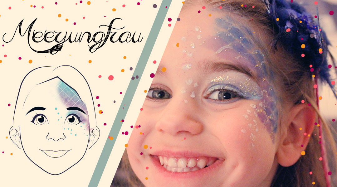 Haushaltsmuffelkarnevals Schmink Gesicht Meerjungfrau Haushaltsmuffel