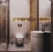 Bilder Badezimmer Gold Mosaik Fliesen Messe Bad Wohndesign ...