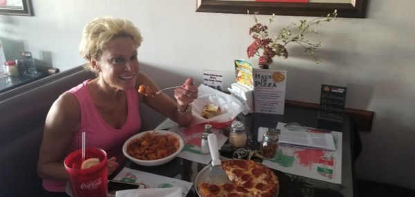 Haus of Pizza - Eating Pasta