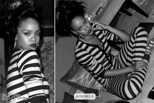 Rihanna in Jack Wills Littlehay All In One onesie