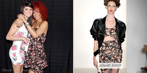 Rihanna in Jeremy Scott X-Ray dress