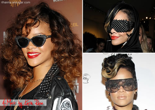 Rihanna in A-Morir by Kerin Rose sunglasses
