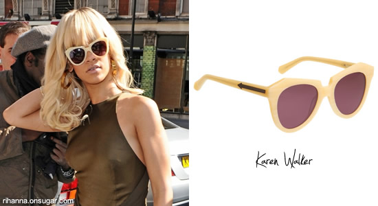 Rihanna in Karen Walker Number One sunglasses
