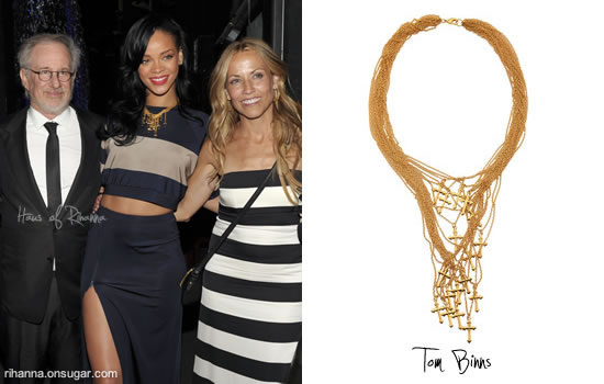 Rihanna at An Unforgettable Evening wearing Adam Selman and Tom Binns