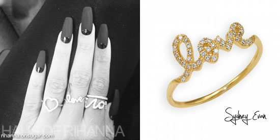 Rihanna's Sydney Evan Love ring