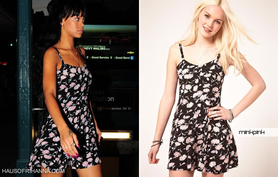 Rihanna In MinkPink Floral Dress