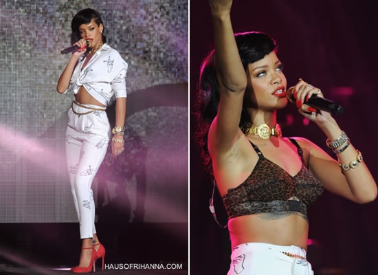 Rihanna in Happy Ashley pants and shirt