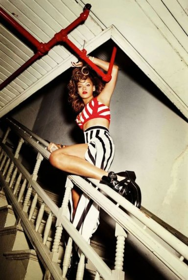 Rihanna Talk That Talk album photoshoot wearing Adam Selman