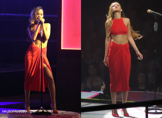 Rihanna Diamonds World Tour costume designed by Adam Selman