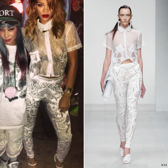 Rihanna in Kokon To Zai KTZ Spring/Summer 2013 womenswear