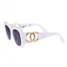 Vintage Chanel white sunglasses