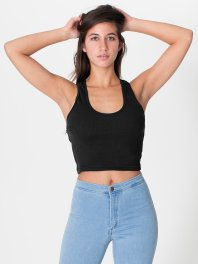 American Apparel racerbank cropped tank