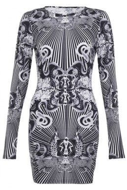 Rihanna for River Island monochrome mini dress