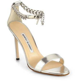 Manolo Blahnik Chaos ankle chain sandals