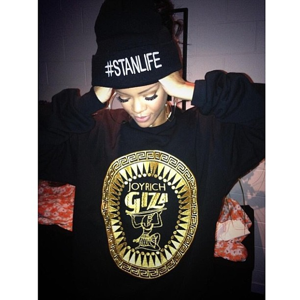 Rihanna wearing Joyrich x Giza Spring/Summer 2014 sweater