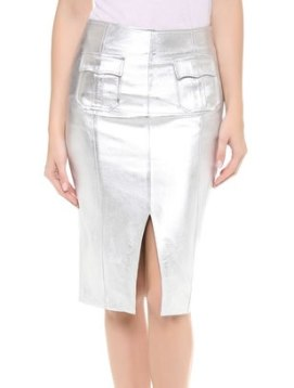 Jonathan Simkhai metallic leather skirt