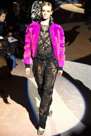 Tom Ford Fall-Winter 2013 pink fur bomber jacket