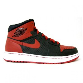 Air Jordan 1 sneakers in Black/Varsity Red