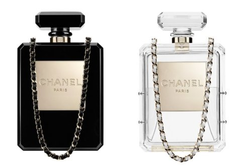 Chanel Resort 2014 perfume shaped handbags